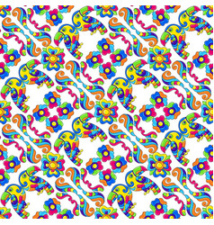 mexican talavera seamless pattern with tropical vector image