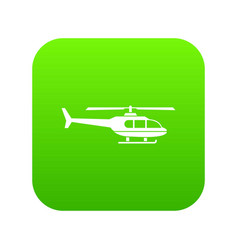 Military helicopter icon digital green vector