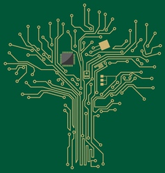 motherboard tree vector image