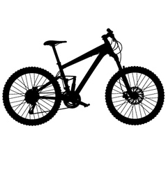 mountain bike full suspension vector image