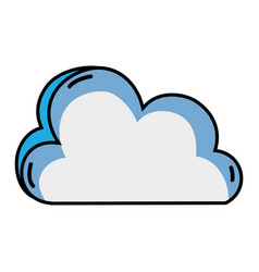nice cloud nature weather icon vector image