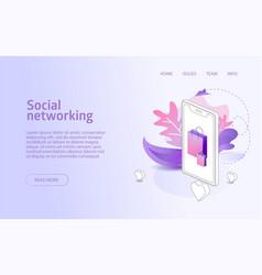 online shop social network website landing vector image