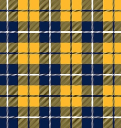 Orange and blue tartan fabric texture in a square vector