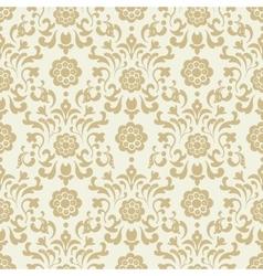 Ornate vintage seamless damask background vector image