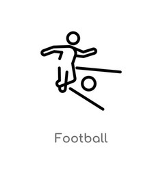 Outline football icon isolated black simple line vector
