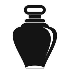 Parfume bottle icon simple style vector