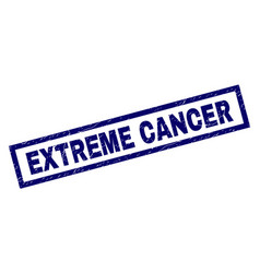 Rectangle scratched extreme cancer stamp vector