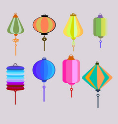 retro chinese lantern vector image