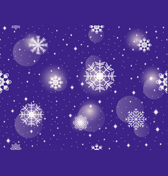 seamless pattern with snowflakes winter abstract vector image