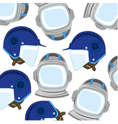 Send spaceman and motorcyclist pattern vector