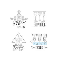 set of creative hand drawn signs for vector image