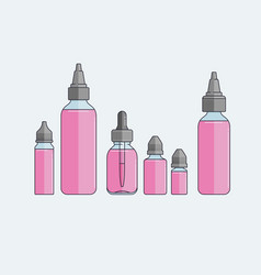 Set of vape e-liquids vector
