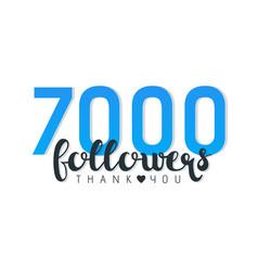 Seven thousand followers banner vector