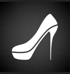 sexy high heel shoe icon vector image