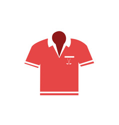 Shirt golf uniform icon vector