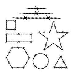 Silhouette barbwire tattoo vector