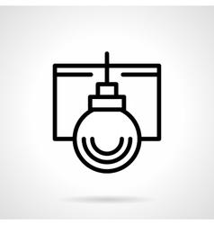 Simple black line Xmas bauble icon vector image