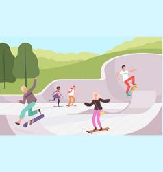 skatepark outdoor extreme activities vector image
