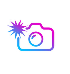social media modern digital camera icon symbol vector image