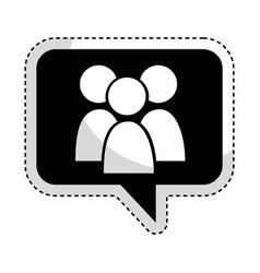 Speech bubble with teamwork icon vector