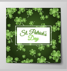 st patricks day greeting background vector image