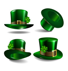 St patricks day hats vector