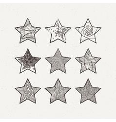 Stars set Pattern geometric vector image