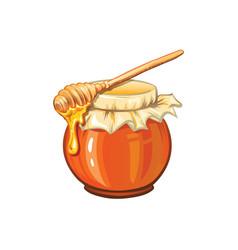 sweet honey pot hand drawn vector image