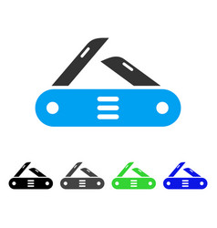 swiss multitool knife flat icon vector image