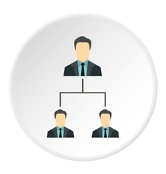 Team of employees icon flat style vector