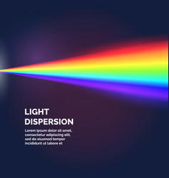 The light dispersion background with rainbow vector