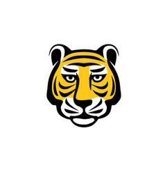 tiger head logo concept vector image