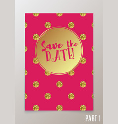 Trendy card for weddings save the date invitation vector