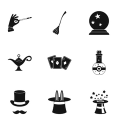 Tricks icons set simple style vector image