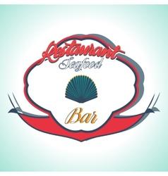 Vintage Seafood Label Restaurant menu vector image