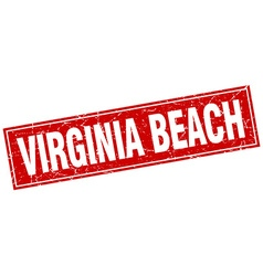 Virginia Beach red square grunge vintage isolated vector