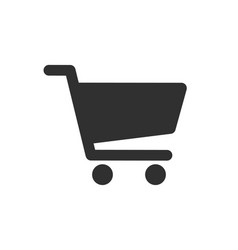 web store shopping cart icon shape button interne vector image