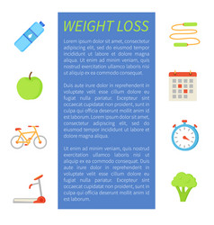 Weigh loss sport poster icon vector