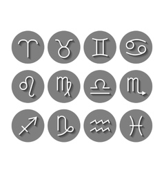 Zodiac signs icons for horoscopes predictions vector image