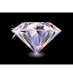 cut diamond vector image vector image