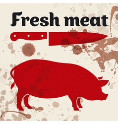Fresh meat vector image vector image