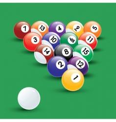 pool balls illustration vector image vector image