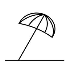 sun umbrella icon vector image vector image