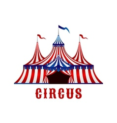 Vintage circus tent with flags and stars vector image vector image
