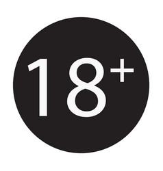 18 years old sign adults content only icon vector image vector image
