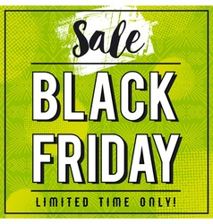 Black friday sale banner on green patterned backgr vector image vector image