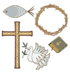 christian symbol vector image vector image