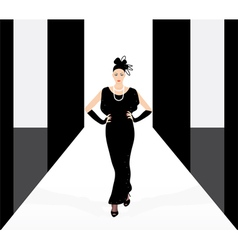 fashion model on the podium vector image vector image