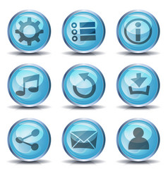 icons and buttons for ui game vector image vector image