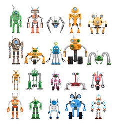 robots set modular collaborative android machines vector image
